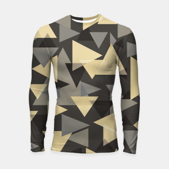 Miniature de image de The dark side, mix of elegant abstract chaotic triangles scattered in all directions pattern Longsleeve rashguard , Live Heroes