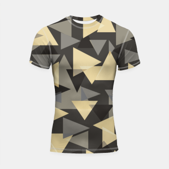 Miniature de image de The dark side, mix of elegant abstract chaotic triangles scattered in all directions pattern Shortsleeve rashguard, Live Heroes
