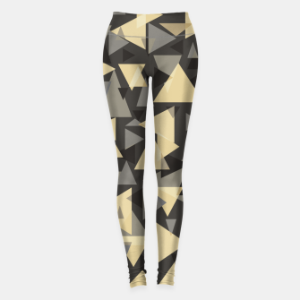 Miniature de image de The dark side, mix of elegant abstract chaotic triangles scattered in all directions pattern Leggings, Live Heroes