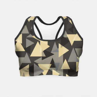 Miniature de image de The dark side, mix of elegant abstract chaotic triangles scattered in all directions pattern Crop Top, Live Heroes