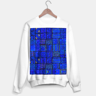 Thumbnail image of Deep Blue Traditional Moroccan Pattern  Sweater regular, Live Heroes