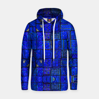 Thumbnail image of Deep Blue Traditional Moroccan Pattern  Hoodie, Live Heroes