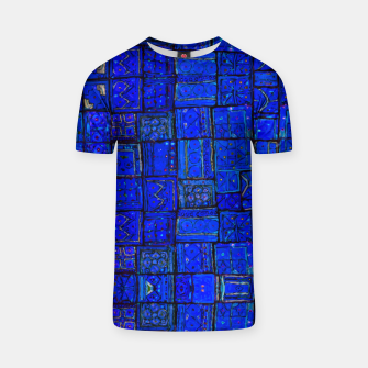 Thumbnail image of Deep Blue Traditional Moroccan Pattern  T-shirt, Live Heroes