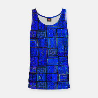 Thumbnail image of Deep Blue Traditional Moroccan Pattern  Tank Top, Live Heroes