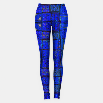Thumbnail image of Deep Blue Traditional Moroccan Pattern  Leggings, Live Heroes