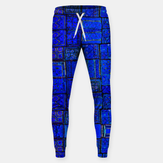 Miniatur Deep Blue Traditional Moroccan Pattern  Sweatpants, Live Heroes