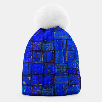 Miniatur Deep Blue Traditional Moroccan Pattern  Beanie, Live Heroes