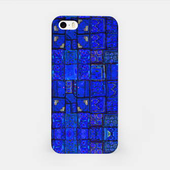 Miniatur Deep Blue Traditional Moroccan Pattern  iPhone Case, Live Heroes