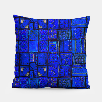 Miniatur Deep Blue Traditional Moroccan Pattern  Pillow, Live Heroes