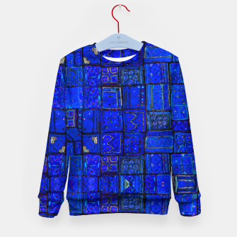 Miniatur Deep Blue Traditional Moroccan Pattern  Kid's sweater, Live Heroes