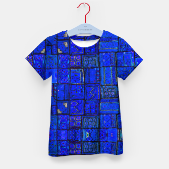 Miniatur Deep Blue Traditional Moroccan Pattern  Kid's t-shirt, Live Heroes