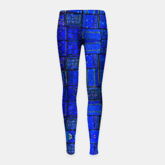 Miniatur Deep Blue Traditional Moroccan Pattern  Girl's leggings, Live Heroes