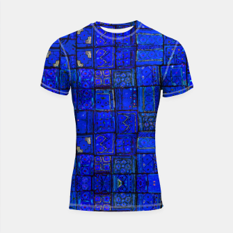 Miniatur Deep Blue Traditional Moroccan Pattern  Shortsleeve rashguard, Live Heroes