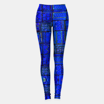 Miniatur Deep Blue Traditional Moroccan Pattern  Leggings, Live Heroes