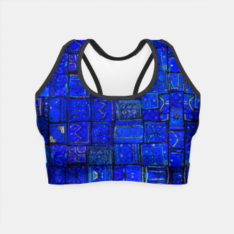 Miniatur Deep Blue Traditional Moroccan Pattern  Crop Top, Live Heroes