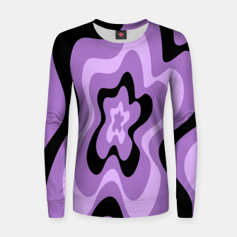 Thumbnail image of Abstract pattern - black and purple. Women sweater, Live Heroes