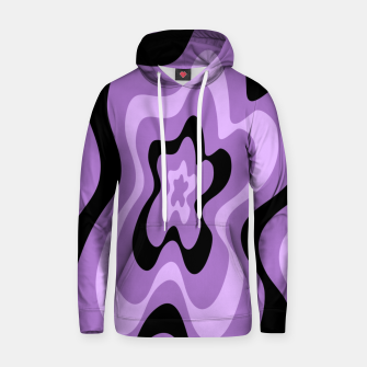 Thumbnail image of Abstract pattern - black and purple. Hoodie, Live Heroes