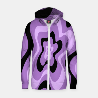 Thumbnail image of Abstract pattern - black and purple. Zip up hoodie, Live Heroes