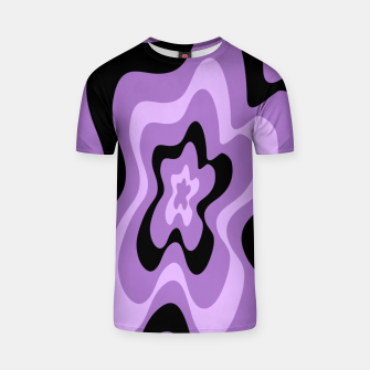 Thumbnail image of Abstract pattern - black and purple. T-shirt, Live Heroes