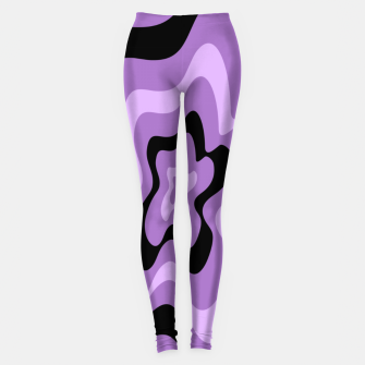Thumbnail image of Abstract pattern - black and purple. Leggings, Live Heroes