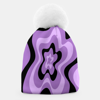 Miniaturka Abstract pattern - black and purple. Beanie, Live Heroes
