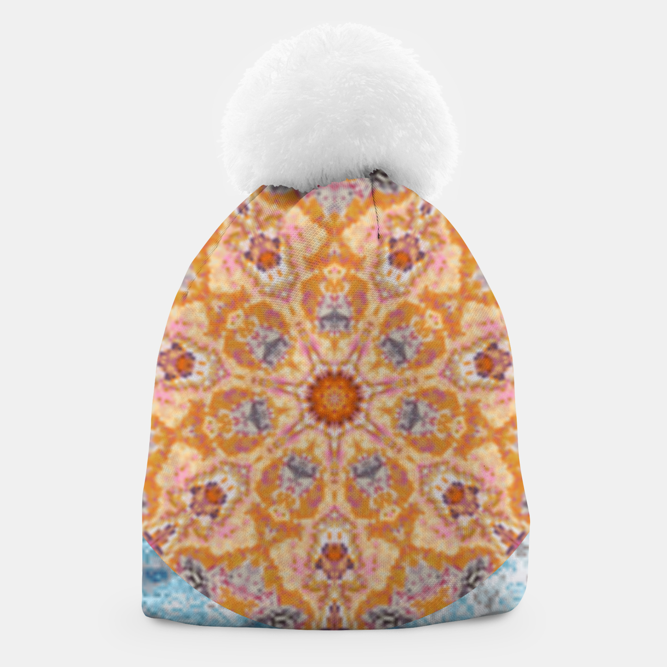 Image of Indian Inspired Floral Mandala Design Beanie - Live Heroes