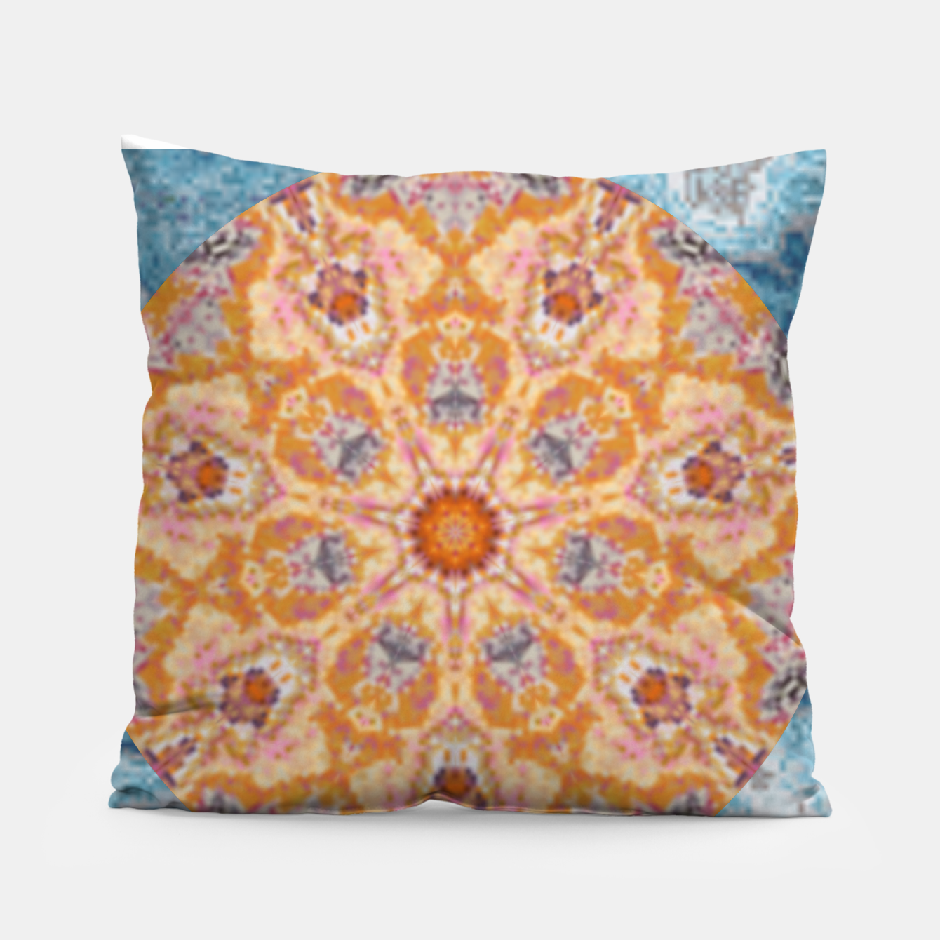 Image of Indian Inspired Floral Mandala Design Pillow - Live Heroes