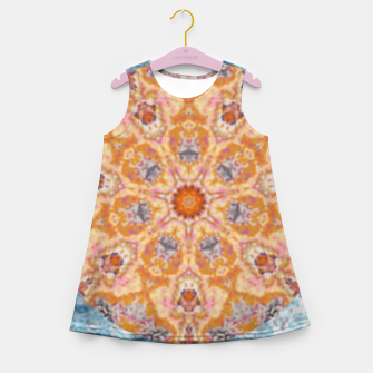 Thumbnail image of Indian Inspired Floral Mandala Design Girl's summer dress, Live Heroes