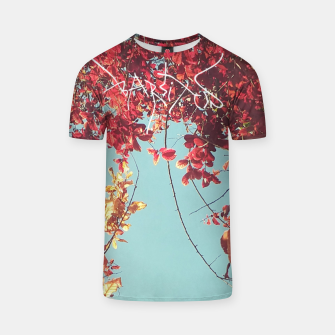 Thumbnail image of Barsitos Red leaves Brand Camiseta, Live Heroes