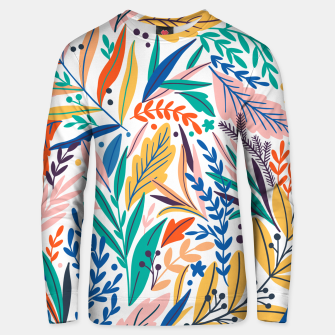 Miniatur Colorful exotic leaves pattern Unisex sweater, Live Heroes