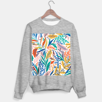 Miniatur Colorful exotic leaves pattern Sweater regular, Live Heroes