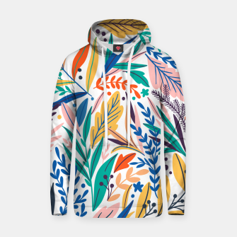 Thumbnail image of Colorful exotic leaves pattern Hoodie, Live Heroes
