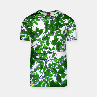 Thumbnail image of Green leaves Camiseta, Live Heroes