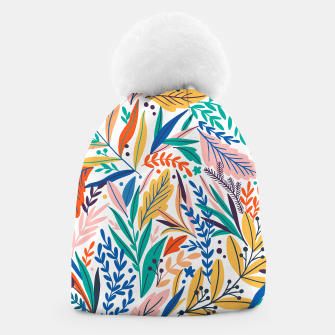 Miniatur Colorful exotic leaves pattern Beanie, Live Heroes