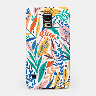 Miniatur Colorful exotic leaves pattern Samsung Case, Live Heroes