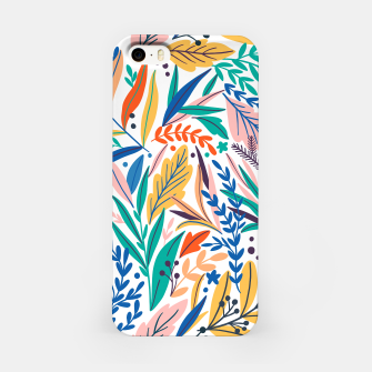 Miniatur Colorful exotic leaves pattern iPhone Case, Live Heroes