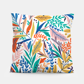 Miniatur Colorful exotic leaves pattern Pillow, Live Heroes