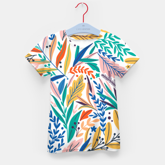 Imagen en miniatura de Colorful exotic leaves pattern Kid's t-shirt, Live Heroes