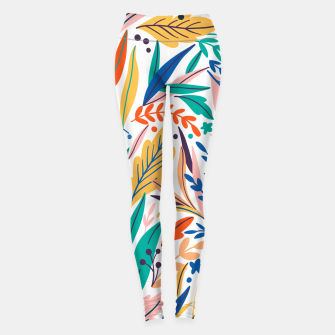 Thumbnail image of Colorful exotic leaves pattern Leggings, Live Heroes