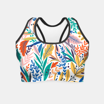 Thumbnail image of Colorful exotic leaves pattern Crop Top, Live Heroes