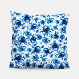 Thumbnail image of Blue Roses Pillow, Live Heroes