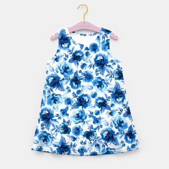Thumbnail image of Blue Roses Girl's summer dress, Live Heroes
