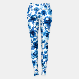Thumbnail image of Blue Roses Leggings, Live Heroes