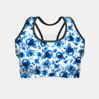 Thumbnail image of Blue Roses Crop Top, Live Heroes