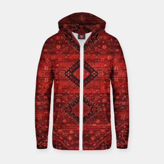 Thumbnail image of Boho Atlas Moroccan Traditional Design Illustration Zip up hoodie, Live Heroes
