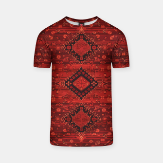 Thumbnail image of Boho Atlas Moroccan Traditional Design Illustration T-shirt, Live Heroes