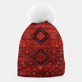 Thumbnail image of Boho Atlas Moroccan Traditional Design Illustration Beanie, Live Heroes