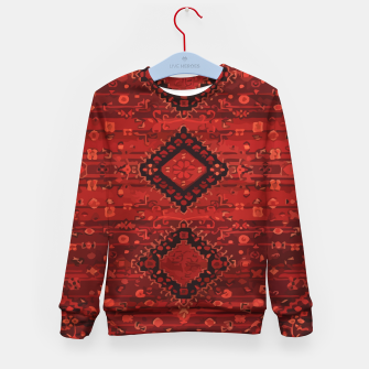 Thumbnail image of Boho Atlas Moroccan Traditional Design Illustration Kid's sweater, Live Heroes