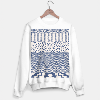 Farmhouse Rustic Boho Oriental Moroccan Shapes Design Sweater regular Bild der Miniatur