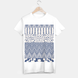 Farmhouse Rustic Boho Oriental Moroccan Shapes Design T-shirt regular Bild der Miniatur